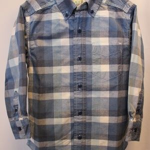 Boys Shirt. 100% cotton, blue check pattern